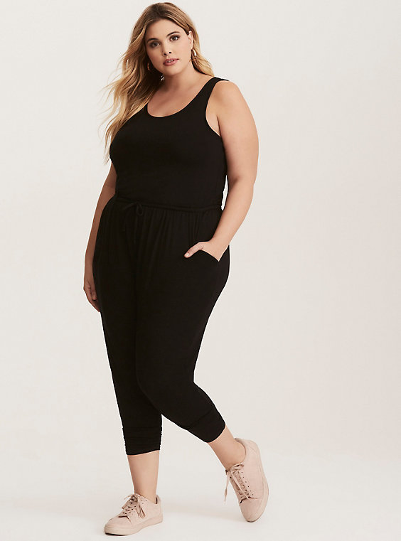 Plus Size - Jersey Knit Jumpsuit - Torr