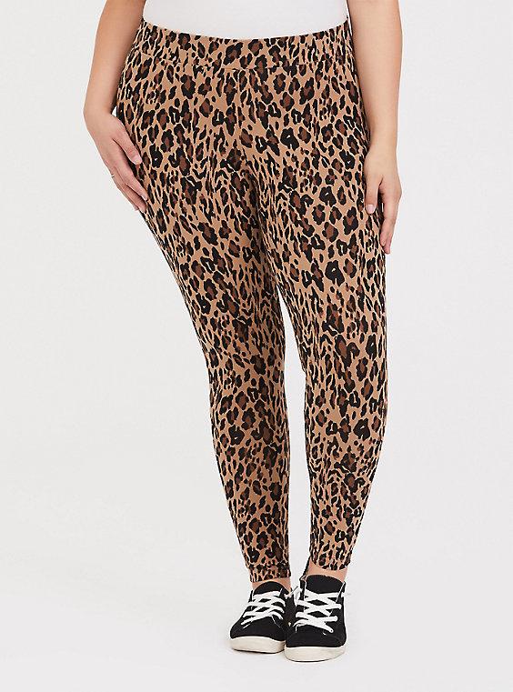 Plus Size - Premium Legging - Leopard Print - Torr