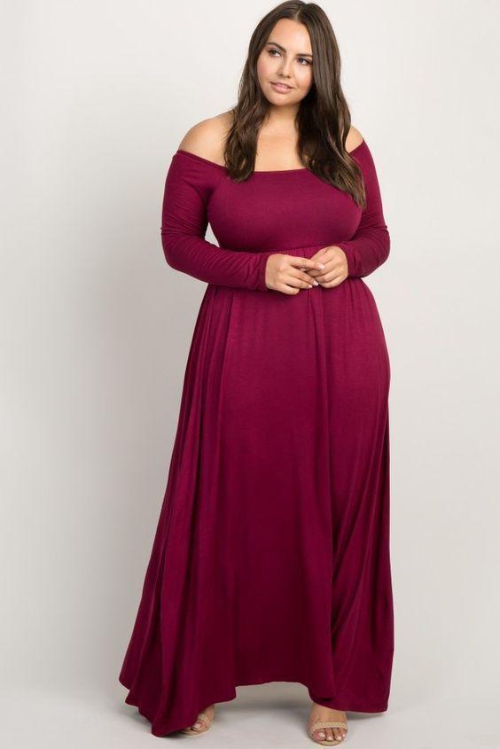 Plus Size Burgundy Maternity Maxi Dresses - Maternity Plus Size .