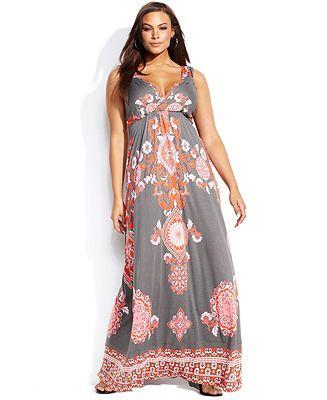 Plus Size Maxi Dress - Plus Size Dress - Macy's | Plus size maxi .