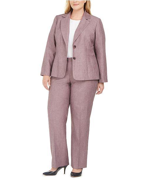 Le Suit Plus Size 2-Button Pants Suit & Reviews - Wear to Work .