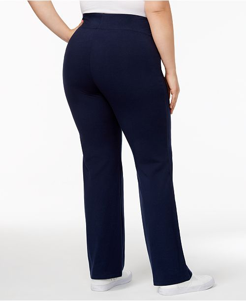 Style & Co Plus Size Tummy-Control Bootcut Yoga Pants, Created for .