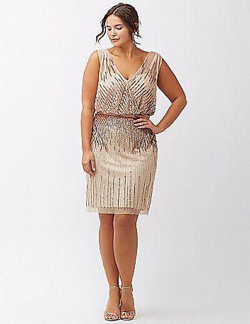 Plus Size Sequined Dress - Plus Size Cocktail Party Dress | Plus .