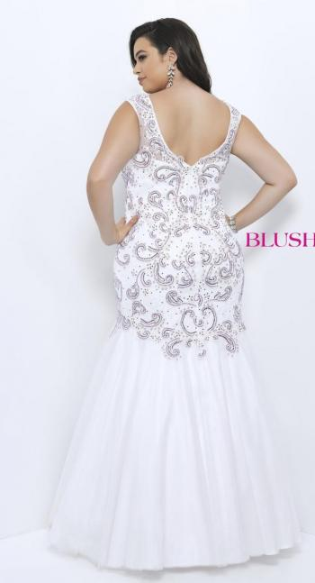 Prom Dresses 2020 | Blush W Plus size Prom Dress 1134