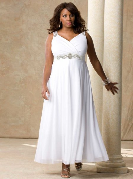 Elegant Long White Plus Size Prom Dresses 2014 | Prom Night Styl