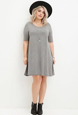 Plus Size Trapeze T-Shirt Dress | Forever 21 PLUS - 2000180166 .