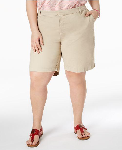 Tommy Hilfiger Plus Size Chino Shorts & Reviews - Shorts - Plus .