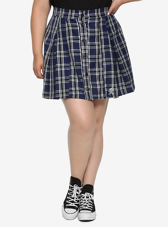 Harry Potter Ravenclaw Pleated Plaid Skirt Plus Si