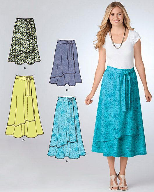 PLUS SIZE skirts pattern 2 lengths-5 sizes-1 easy pattern .