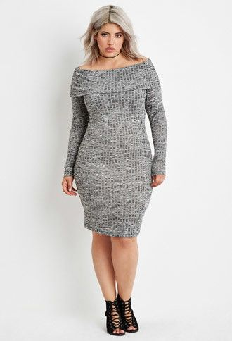 Plus Size Off-the-Shoulder Sweater Dress | Forever 21 PLUS .