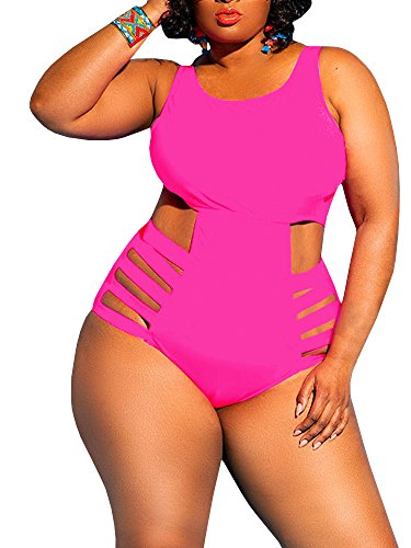 Rotita Womens One Piece High Waist Plus Size Swimsuits Sexy Tummy .