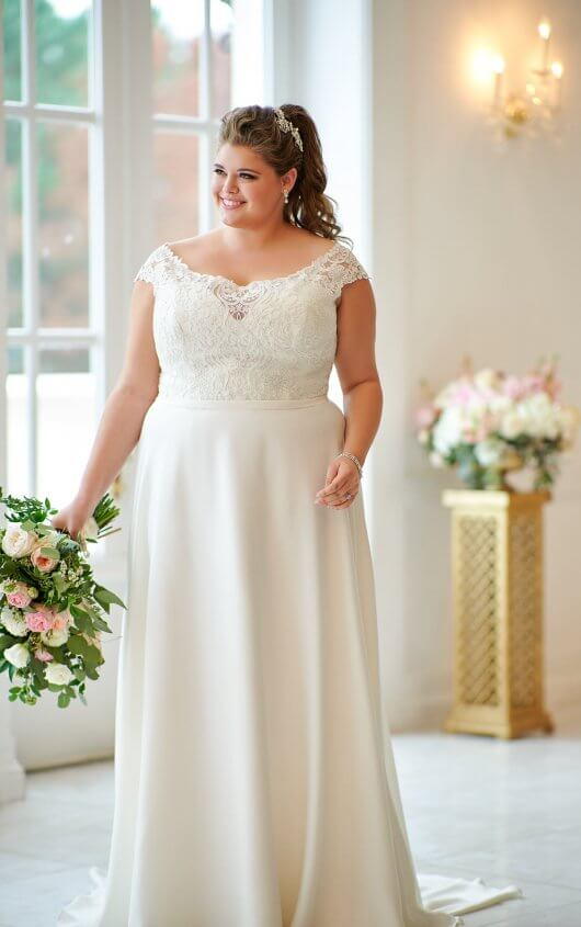 Plus-Size Simple and Sweet Wedding Dress | Stella York Wedding Gow
