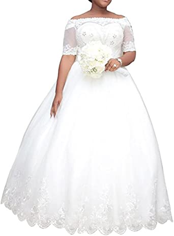 WeddingDazzle Women's Plus Size Wedding Dresses for Bride Ball .