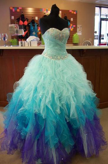 Poofy Style Prom Dress, Poofy Formal Dresses - Dorris Weddi