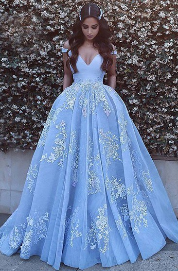 Poofy Formal Dress, Fluffy Prom Gowns | Dressaffo