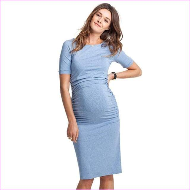 JCBling - Maternity Dresses Lycra Clothes For Pregnant Women .