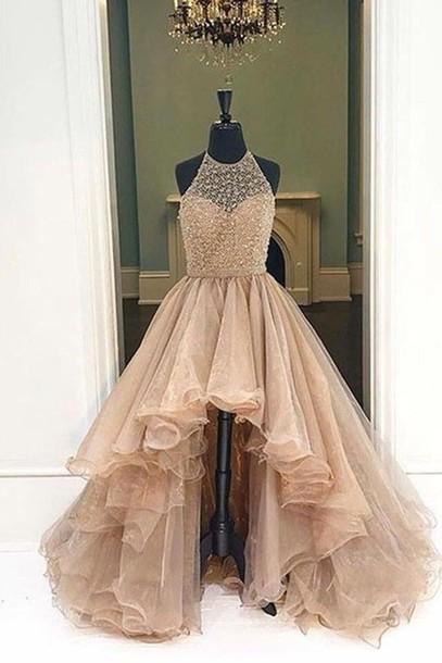 dress, pretty, nude, beige, tumblr, luxurious, prom, luxurious .