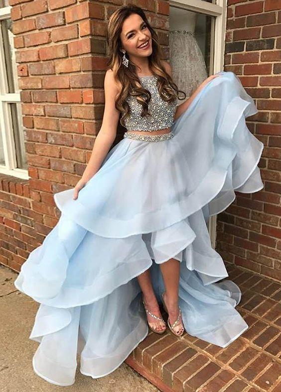 Sexy High Low Prom Dress, Organza Prom Dress, by dresses on Zibb
