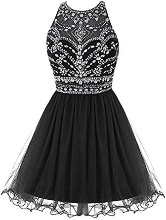 Amazon.com: Fashionbride Women's Prom Dresses 2020 Crystals Tulle .