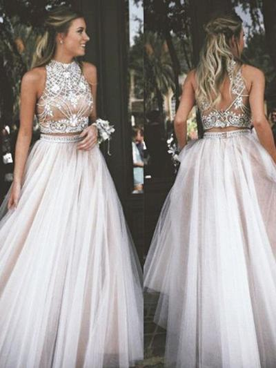 Newest Ball-Gown High Neck Chiffon Prom Dresses - | Save Up To 60 .