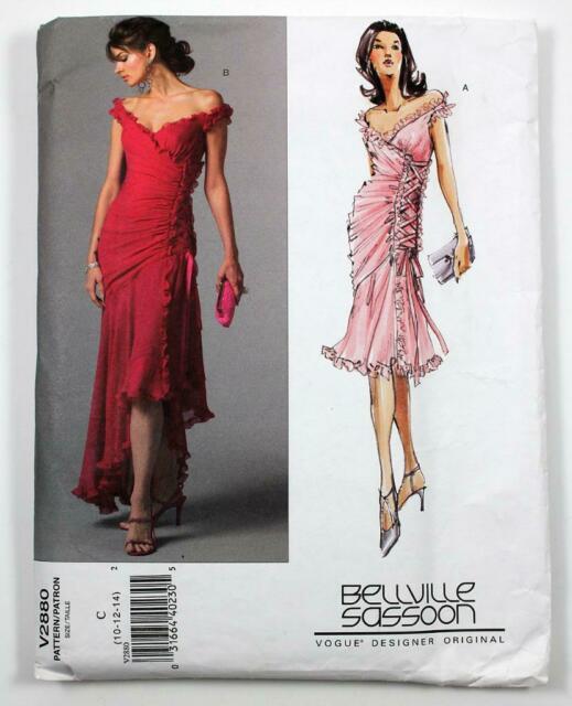 Vogue 2880 Bellville Sassoon Miss Tango Dance Evening Prom Dress .