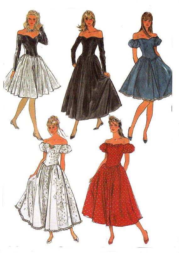 80s Princess Bodice Evening Dress Pattern by allthepreciousthings .