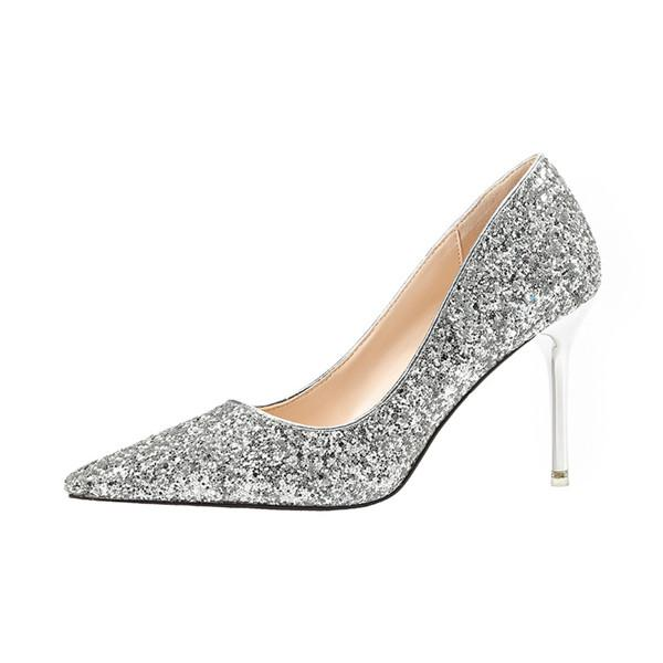 Popular Closed Toe Sequined High Heels Prom Shoes PS001 – BohoPr