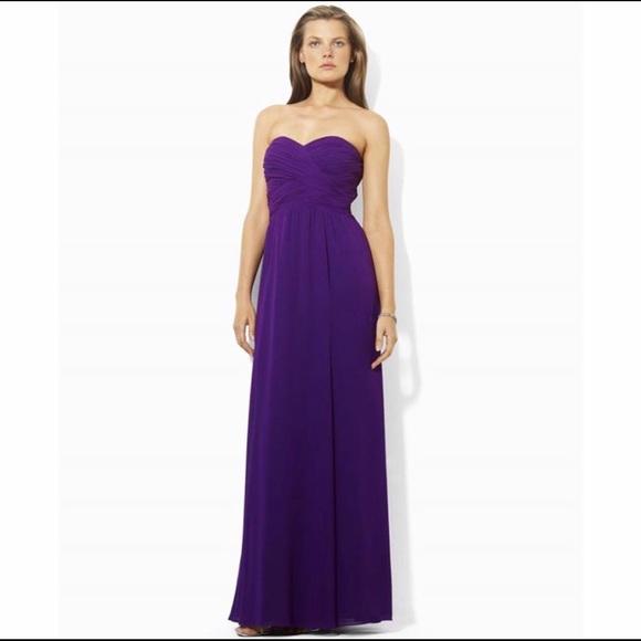 Ralph Lauren Dresses   Nwt Purple Prom Dress Evening Gown   Poshma