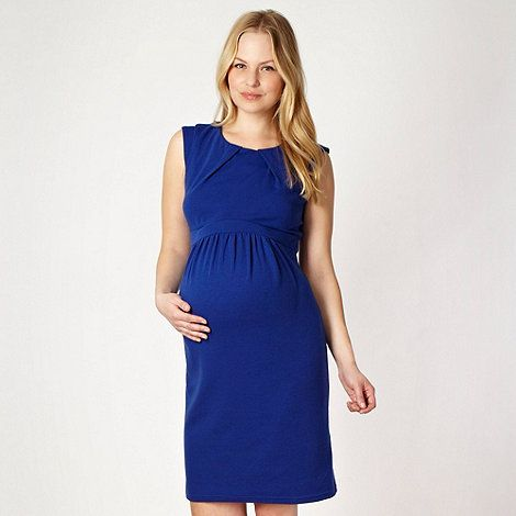Red Herring Maternity Royal blue ponte maternity dress- at .