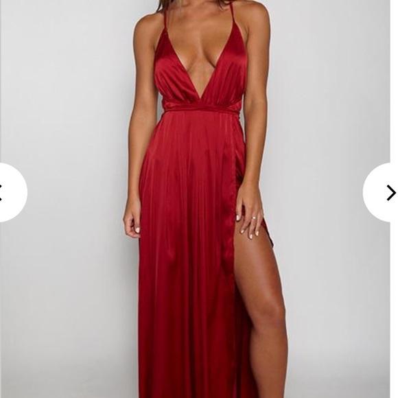 Babyboo Dresses   Long Red Prom Dress   Poshma