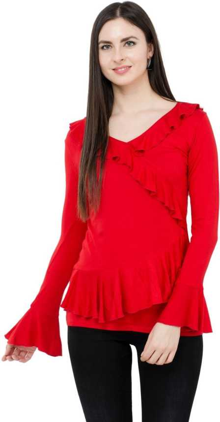 Red Top Blouse - Foto Blouse and Pocket Fensterdicht.C