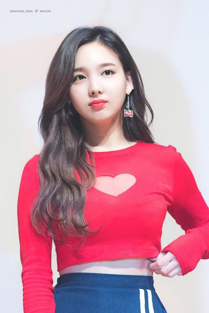 TWICE Nayeon Showcases Her Sexiness With This Red Top! | Nayeon .