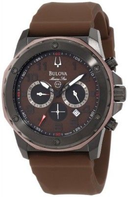 Relógio Bulova Men's 98B128 Marine Star Brown Dial Strap Watch .
