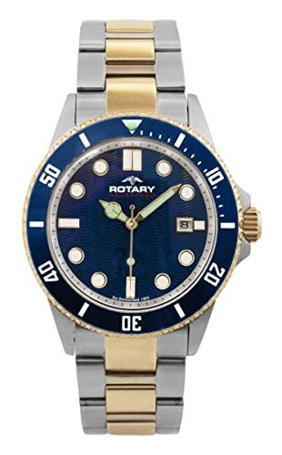 Rotary Aquaspeed Men's Quartz Watch with Blue Dial Analogue .