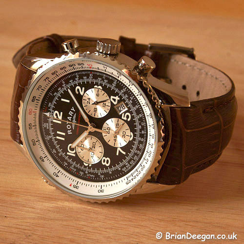 Men's Watches - ROTARY CHRONOSPEED CHRONOGRAPH WATCH, LEATHER .