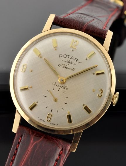 Rotary 9k. gold watch @ WatchesToBuy.com | Antique watches, Mens .