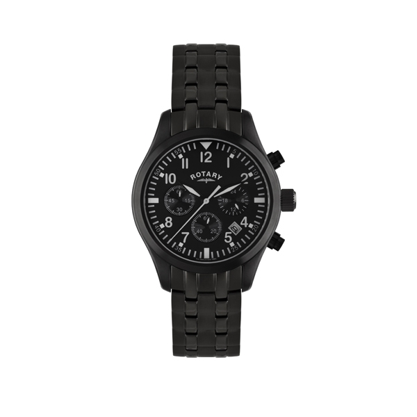 Rotary Watches Rotary Mens Black IP Watch GB02681/19| Jewellers A