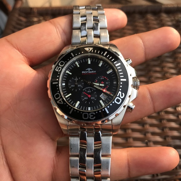 Rotary Watches Accessories | Mens Silver Rotary Watch | Poshma