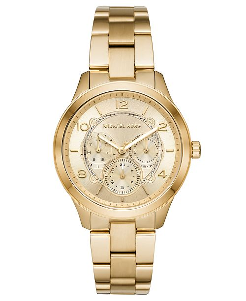 Michael Kors Women's Runway Gold-Tone Stainless Steel Bracelet .