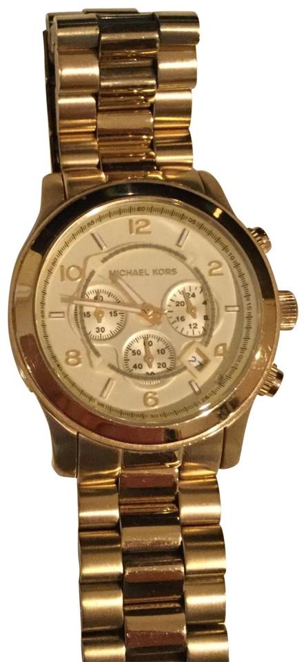 Michael Kors Gold Large Runway Watch - Trade