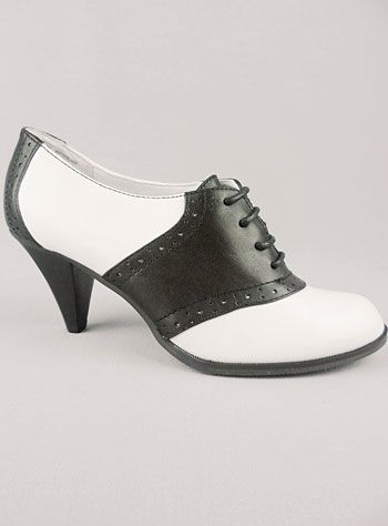 Fabulously vintage inspired high heel saddle shoes (With images .