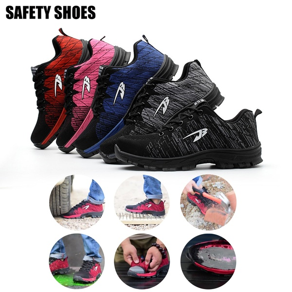Mens Womens Fashion Safety Shoes Work Shoes Resistance To Bump .