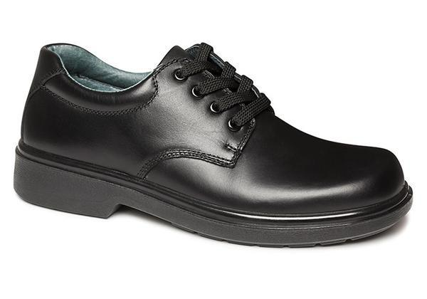 Clarks Daytona Junior Black Leather School Shoes Lightweight/Lace .