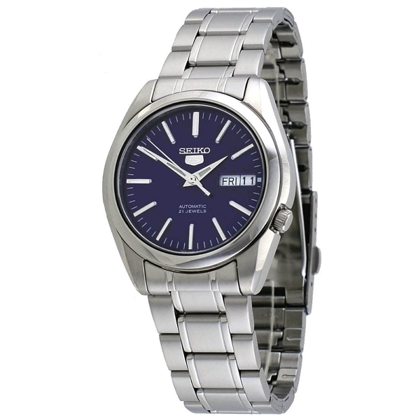 SEIKO 5 SNKL43 SNKL43K1 Automatic 21 Jewels Blue Dial Stainless .