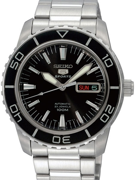 Seiko 41mm Sports 5, 23-Jewel Automatic Watch with Day and Date .