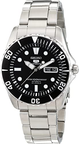Amazon.com: Seiko 5 Automatic Black Dial Stainless Steel Men's .
