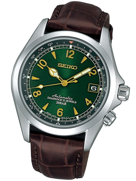Seiko Green Dial Automatic Alpinist Field Watch with 38mm Case .
