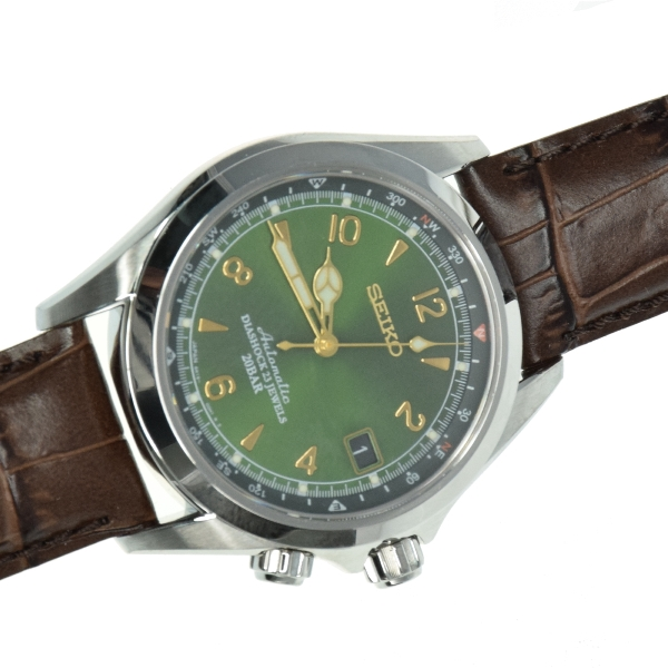 SEIKO SARB017 Mechanical Alpinist Automatic Men's Leather Watch .