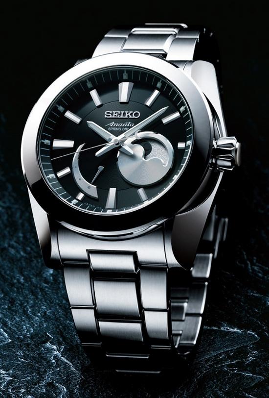 Seiko Ananta Spring Drive Moon Phase Watch | Watch Revi