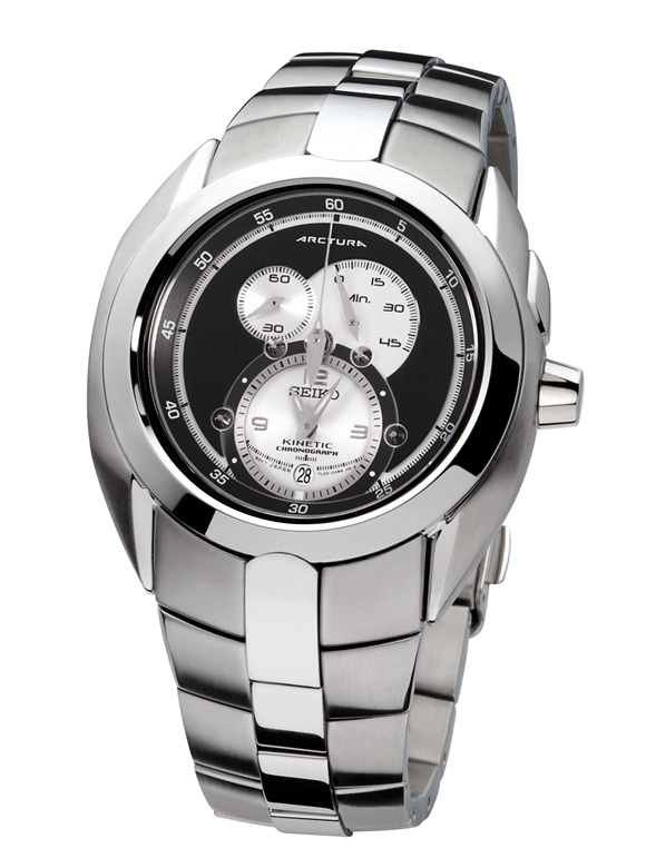 Seiko Arctura Kinetic Chronograph Watch | Watch Revi